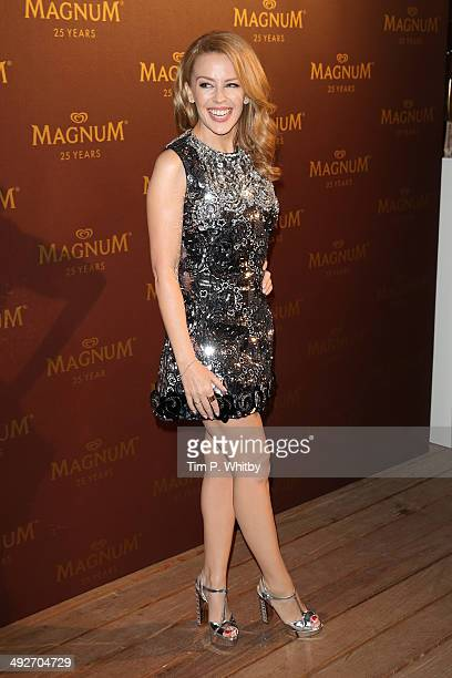 Kylie Minogue attends the Magnum 25th Anniversary party during the 67th Annual Cannes Film Festival on May 21 2014 in Cannes France