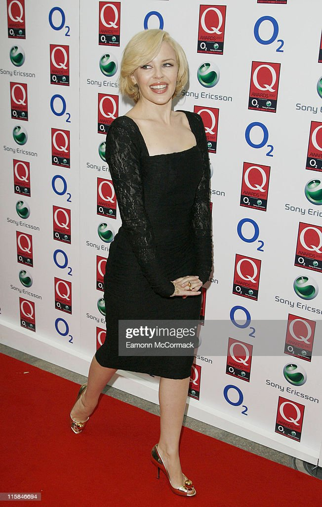 Kylie Minogue attends the Q Awards at the Grosvenor House Hotel on October 08 2007 in London