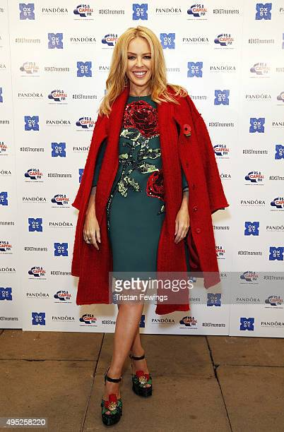 Kylie Minogue attends The World Famous Oxford Street Christmas Lights Switch On Event taking place at the Pandora Flagship Store on November 1 2015...