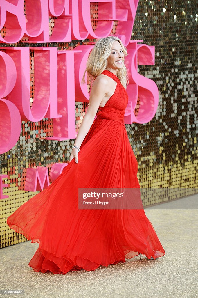 Kylie Minogue attends the World Premiere of 'Absolutely Fabulous: The Movie' at Odeon Leicester Square on June 29, 2016 in London, England.