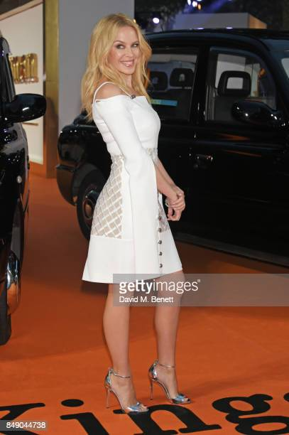 Kylie Minogue attends the World Premiere of 'Kingsman The Golden Circle' at Odeon Leicester Square on September 18 2017 in London England