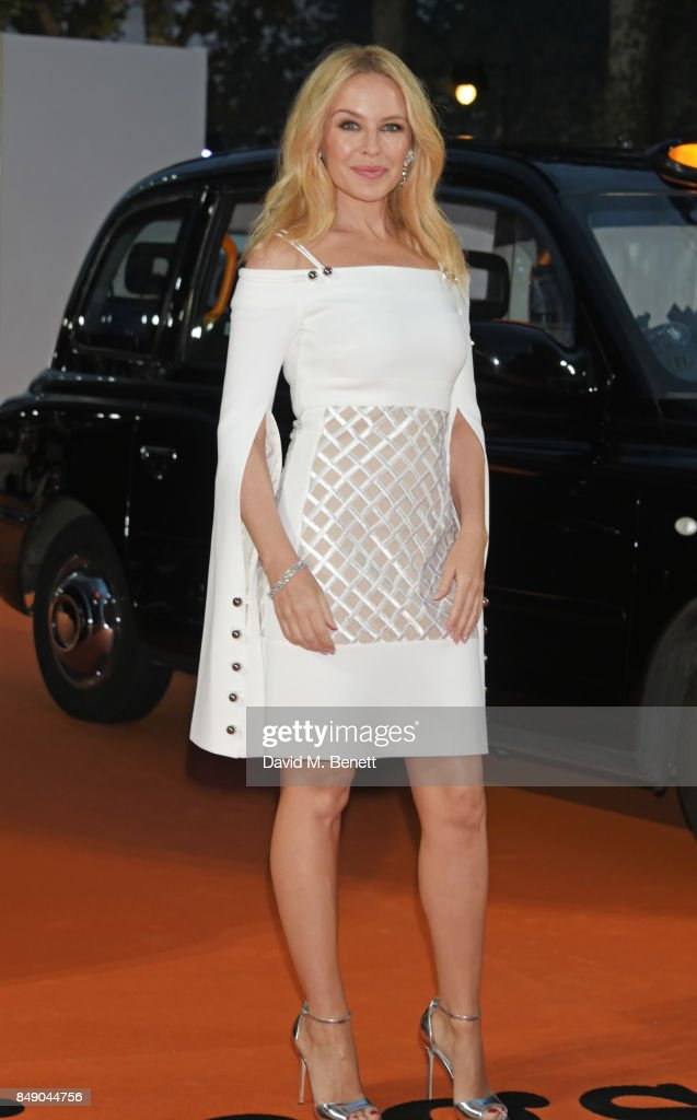 Kylie Minogue attends the World Premiere of 'Kingsman: The Golden Circle' at Odeon Leicester Square on September 18, 2017 in London, England.