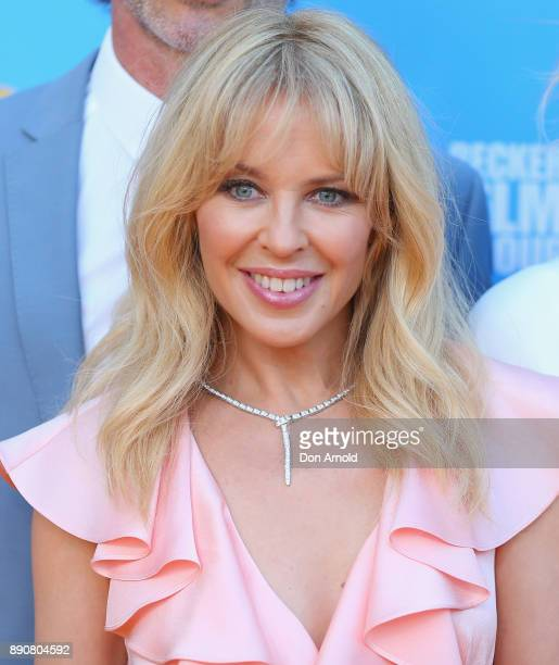 Kylie Minogue attends the world premiere of Swinging Safari on December 12 2017 in Sydney Australia
