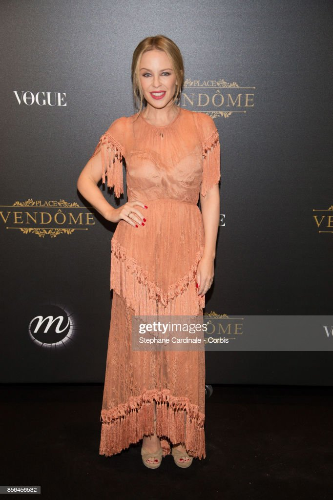 Kylie Minogue attends Vogue Party as part of the Paris Fashion Week Womenswear Spring/Summer 2018 at on October 1, 2017 in Paris, France.