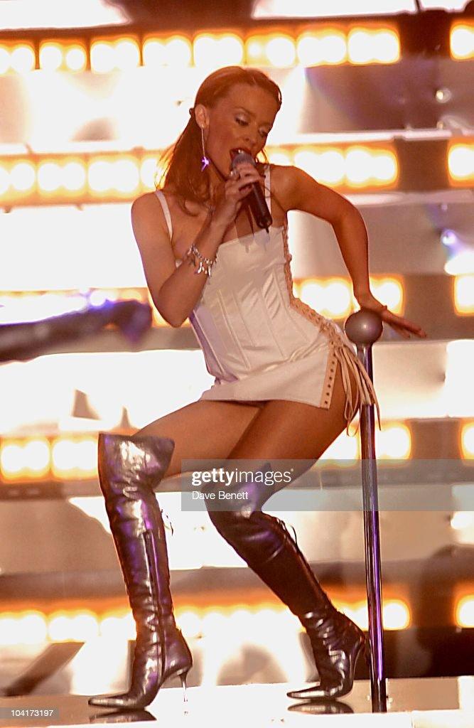 Kylie Minogue, Brit Awards 2002 Rehersals At Earls Court, London