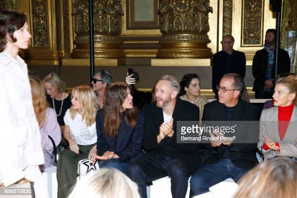 Kylie Minogue Charlotte Casiraghi husband of Stella Alasdhair Willis actor Jerry Seinfeld and his wife Jessica attend the Stella McCartney show as...
