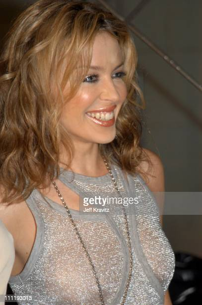 Kylie Minogue during MTV European Music Awards 2002 at Palau Sant Jordi in Barcelona Spain