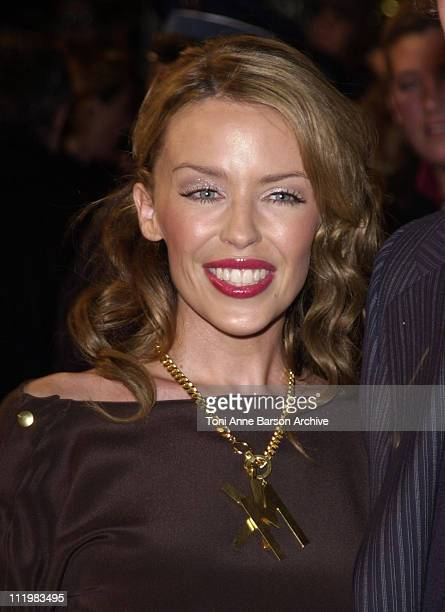 Kylie Minogue during NRJ Music Awards 2002 Arrivals at Palais des Festivals in Cannes France
