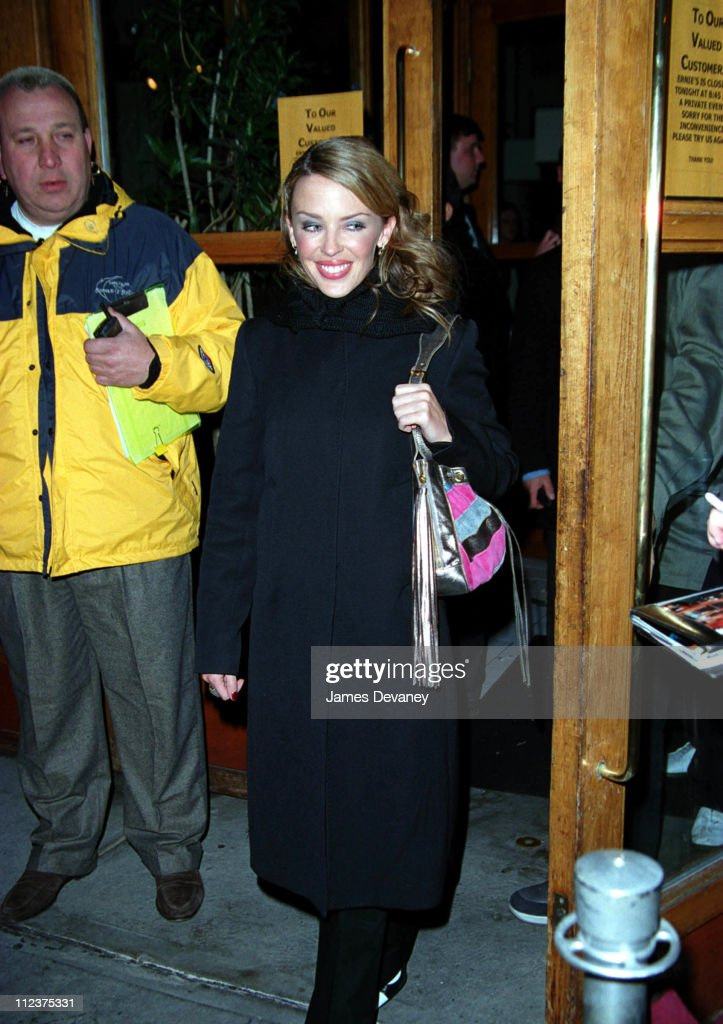 Kylie Minogue during 'Saturday Night Live' After Party March 16 2002 at Ernie's in New York City NY United States