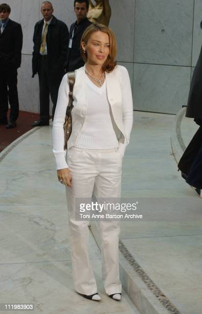 Kylie Minogue during World Music Awards 2002 Rehearsal Arrivals at MonteCarlo Sporting Club in MonteCarlo Monaco