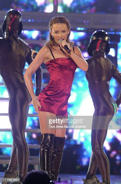 Kylie Minogue during World Music Awards 2002 Show at Monte Carlo Sporting Club in MonteCarlo Monaco