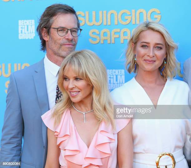 Kylie Minogue Guy Pearce and Asher Keddie attend the world premiere of Swinging Safari on December 12 2017 in Sydney Australia