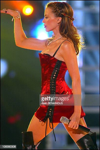 Kylie Minogue in Monaco on March 06 2002