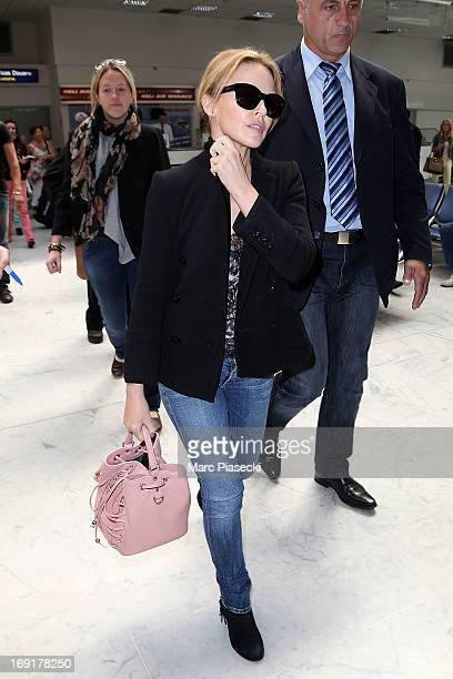 Kylie Minogue is seen at Nice airport during the 66th Annual Cannes Film Festival on May 21 2013 in Nice France