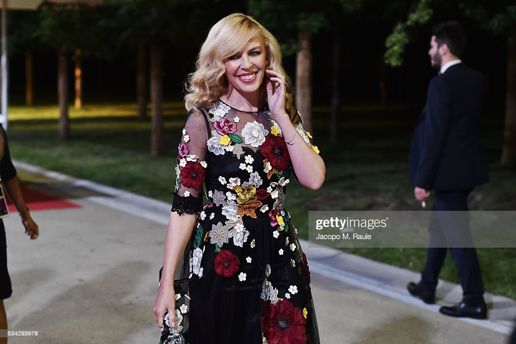 <a gi-track='captionPersonalityLinkClicked' href=/galleries/search?phrase=Kylie+Minogue&family=editorial&specificpeople=201671 ng-click='$event.stopPropagation()'>Kylie Minogue</a> is seen backstage ahead of Bocelli and Zanetti Night on May 25, 2016 in Rho, Italy.
