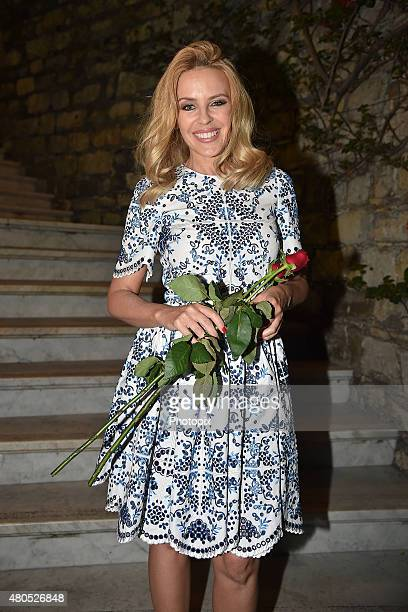 Kylie Minogue is seen on July 12 2015 in Portofino