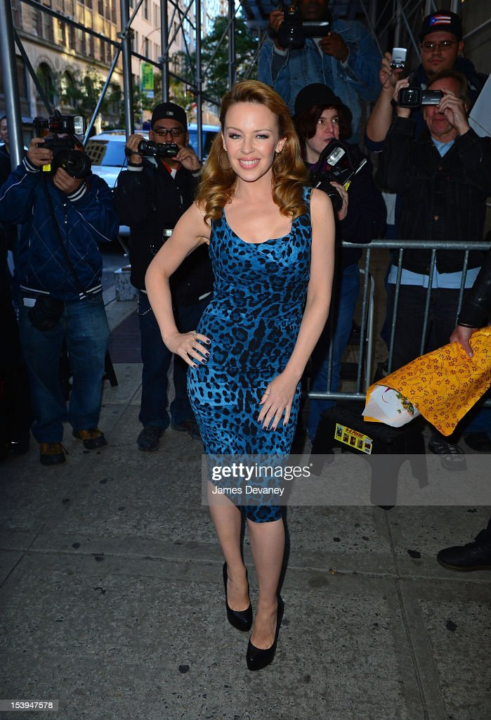 Kylie Minogue leaves the 'Wendy Williams Show' taping at Chelsea Studios on September 17 2012 in New York City