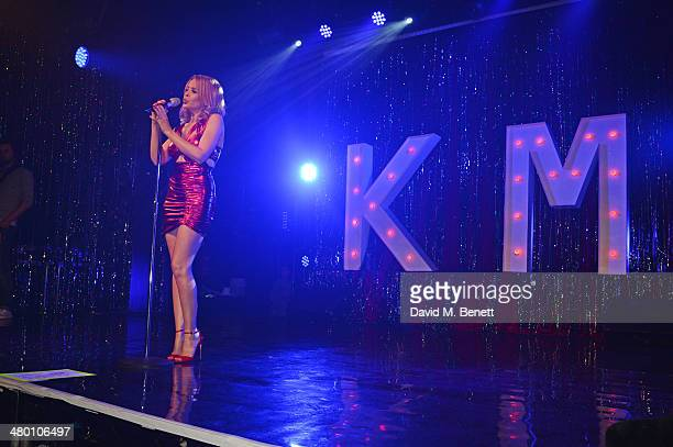 Kylie Minogue performs at GAY on March 22 2014 in London England