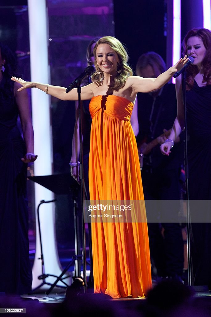 <a gi-track='captionPersonalityLinkClicked' href=/galleries/search?phrase=Kylie+Minogue&family=editorial&specificpeople=201671 ng-click='$event.stopPropagation()'>Kylie Minogue</a> performs at the Nobel Peace Prize Concert at Oslo Spektrum on December 11, 2012 in Oslo, Norway.