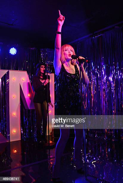 Kylie Minogue plays a surprise gig at London pub The Old Blue Last in Shoreditch on February 13 2014 in London England