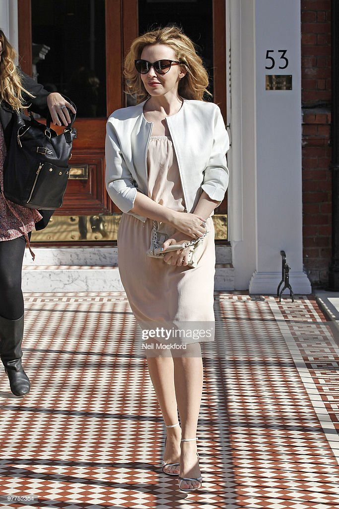 Kylie Minogue Sighted leaving her home on March 16 2010 in London England