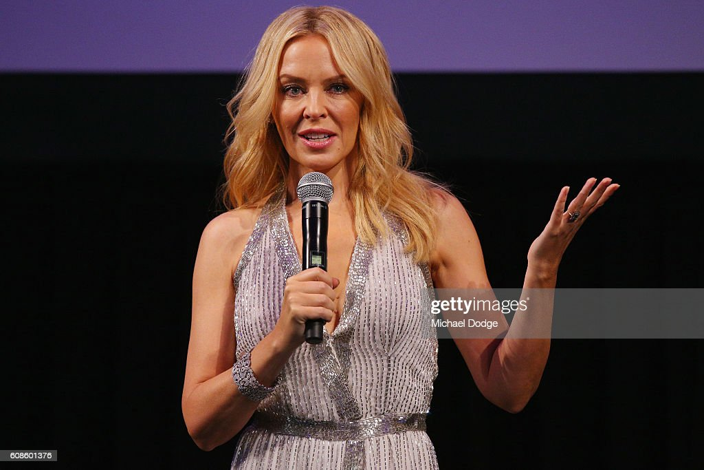 Kylie Minogue Opens Kylie on Stage Exhibition