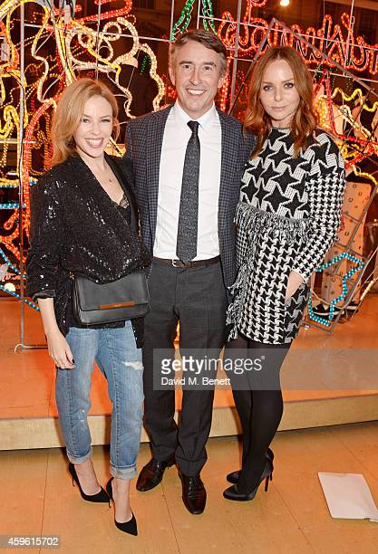 Kylie Minogue Steve Coogan and Stella McCartney attend the Stella McCartney Christmas Lights Switch On at the Stella McCartney Bruton Street Store on...