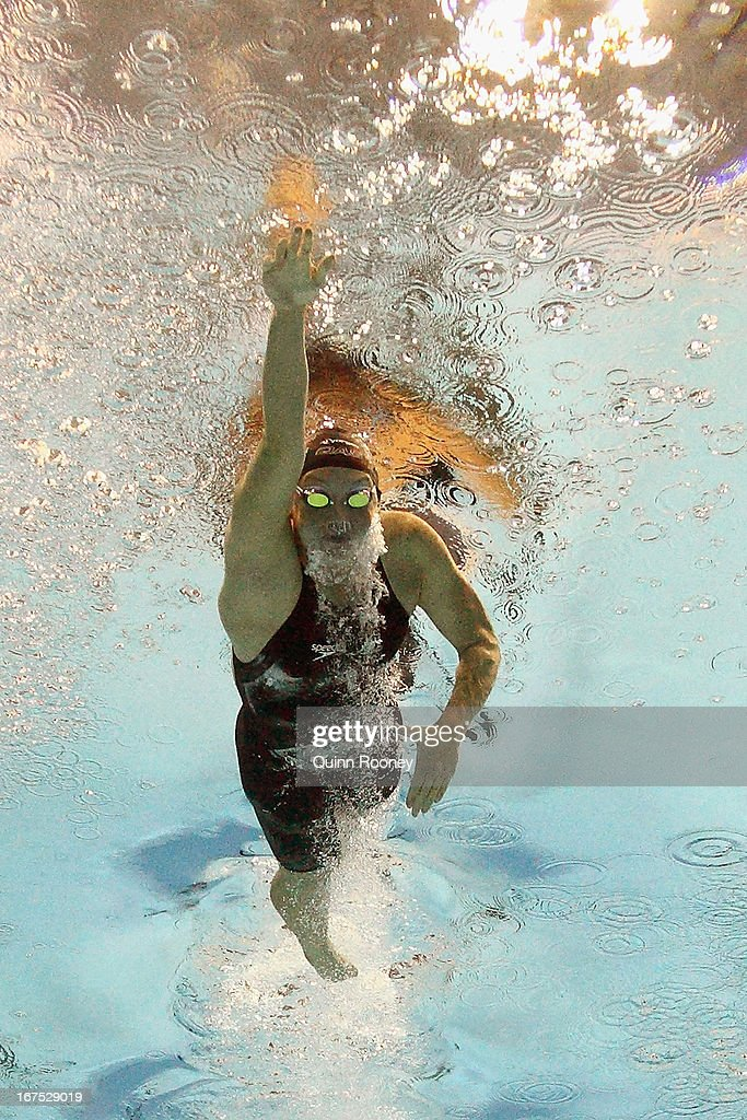 <a gi-track='captionPersonalityLinkClicked' href=/galleries/search?phrase=Kylie+Palmer&family=editorial&specificpeople=635542 ng-click='$event.stopPropagation()'>Kylie Palmer</a> of Australia competes in the Women's 400 Metre Freestyle during day one of the Australian Swimming Championships at the SA Aquatic and Leisure Centre on April 26, 2013 in Adelaide, Australia.