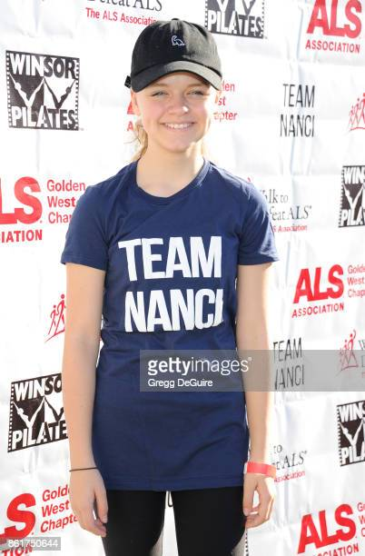 Kylie Rogers attends Nanci Ryder's 'Team Nanci' 15th Annual LA County Walk To Defeat ALS at Exposition Park on October 15 2017 in Los Angeles...