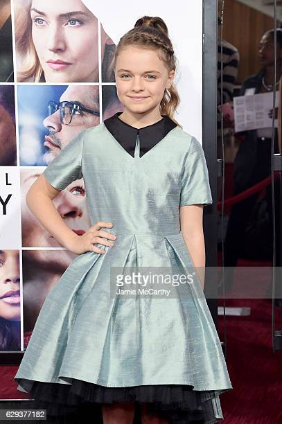 Kylie Rogers attends the 'Collateral Beauty' World Premiere at Frederick P Rose Hall Jazz at Lincoln Center on December 12 2016 in New York City