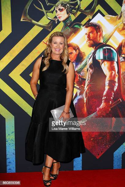 Kylie WatsoneWheeler arrives for the Australian Premiere of Thor Ragnarok on October 13 2017 in Gold Coast Australia