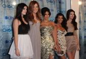 Kyllie Jenner Khloe Kardashian Kim Kardashian Kourtney Kardashian and Kendall Jenner arrive at the People's Choice Awards in Los Angeles California...