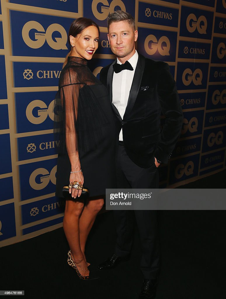 Kyly Clarke and Michael Clarke arrive ahead of the 2015 GQ Men Of The Year Awards on November 10, 2015 in Sydney, Australia.