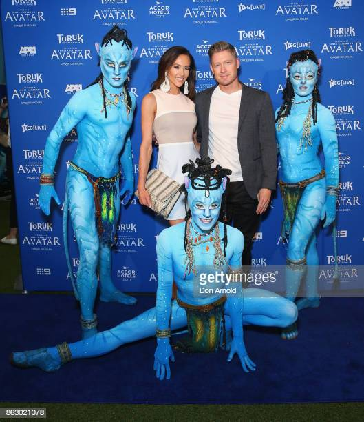 Kyly Clarke and Michael Clarke arrive ahead of TORUK The First Flight by Cirque du Soleil at Qudos Bank Arena on October 19 2017 in Sydney Australia