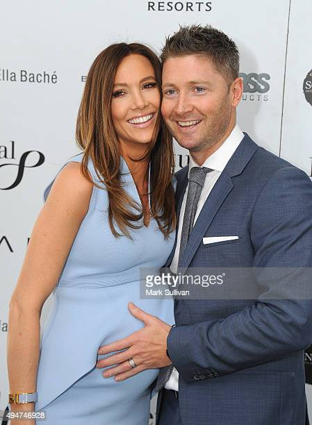 Kyly Clarke and Michael Clarke attend the 2015 Loyal Foundation Sportsman's Lunch at Darling Harbour on October 29 2015 in Sydney Australia