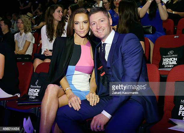 Kyly Clarke and Michael Clarke attend the Australian Style show during Sydney Fashion Festival at Sydney Town Hall on September 24 2014 in Sydney...