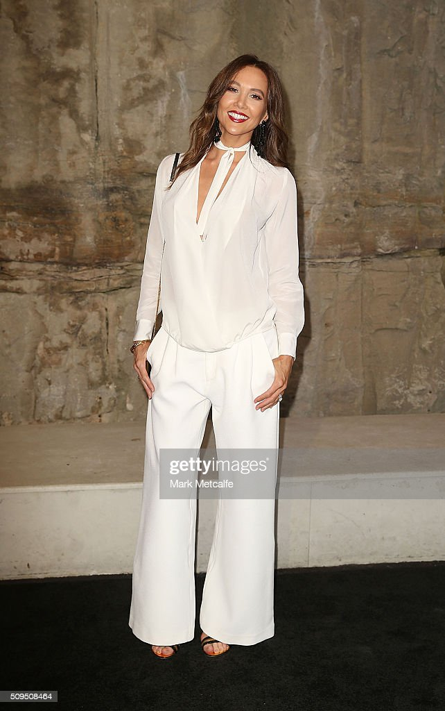Kyly Clarke arrives ahead of the Myer AW16 Fashion Launch on February 11, 2016 in Sydney, Australia.