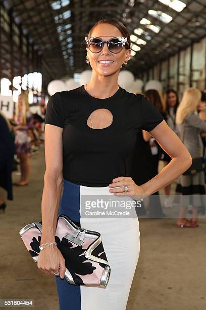 Kyly Clarke attends the By Johnny show at MercedesBenz Fashion Week Resort 17 Collections at Blacksmith's Workshop on May 17 2016 in Sydney Australia