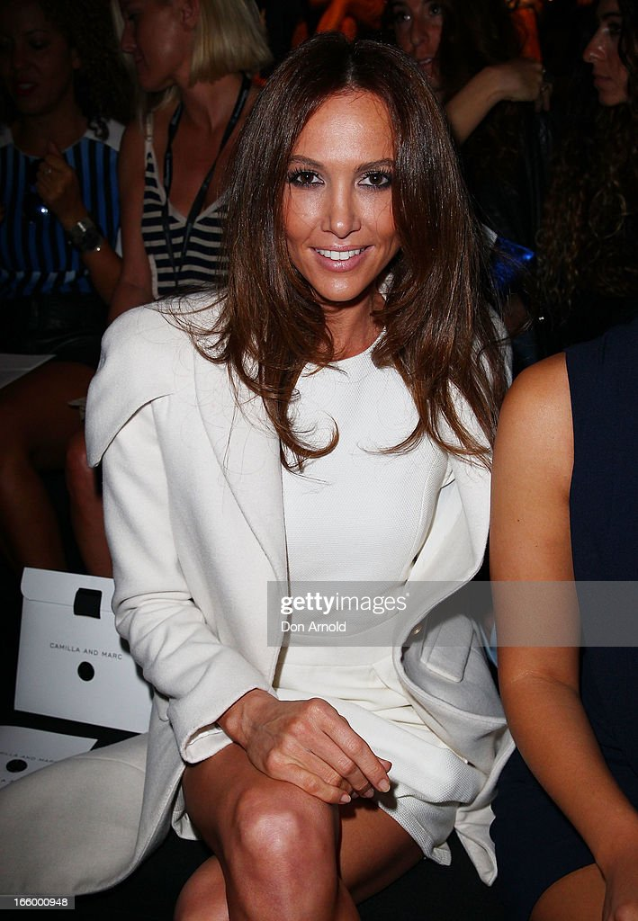 Kyly Clarke attends the Camilla and Marc show during Mercedes-Benz Fashion Week Australia Spring/Summer 2013/14 at Carriageworks on April 8, 2013 in Sydney, Australia.