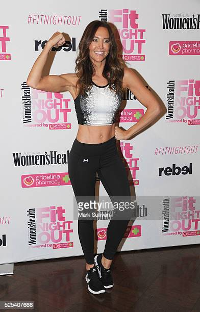 Kyly Clarke attends the launch of Women's Health Fit Night Out at Sydney Town Hall on April 28 2016 in Sydney Australia