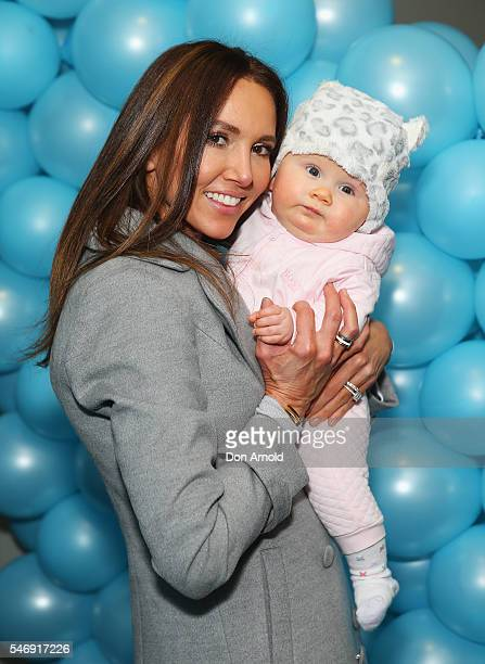 Kyly Clarke poses with daughter Kelsey Lee Clarke ahead of the Disney On Ice premiere at Qudos Bank Arena on July 13 2016 in Sydney Australia