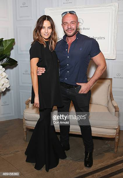 Kym Ellery and Alex Perry attends the MercedesBenz Presents Dinner following the Ellery Show at MercedesBenz Fashion Week Australia 2015 at...