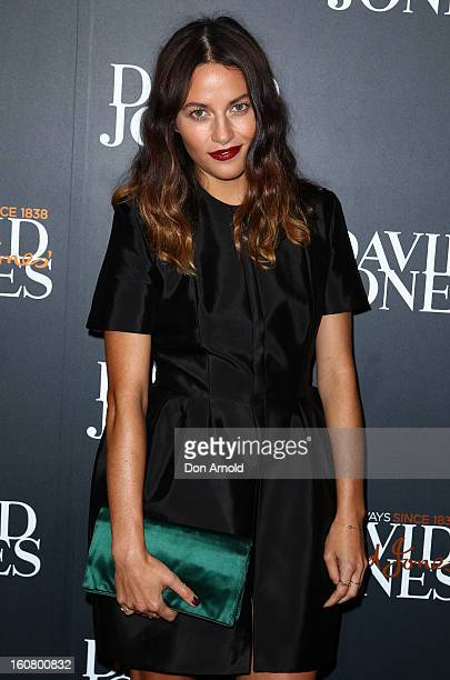 Kym Ellery arrives for the David Jones A/W 2013 Season Launch at David Jones Castlereagh Street on February 6 2013 in Sydney Australia