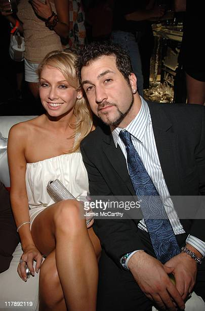 Kym Johnson and Joey Fatone during 133rd Kentucky Derby Polaroid Presents The Stuff Magazine VIP Issue Party At The Kentucky Derby in Louisville...