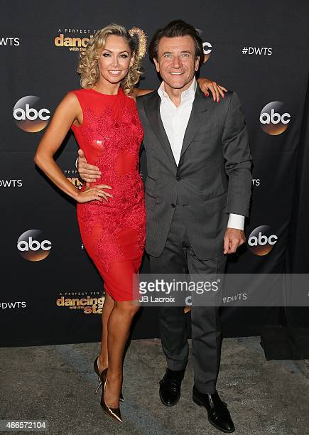Kym Johnson and Robert Herjavec attend ABC's 'Dancing With The Stars' Season Premiere held at Hyde on March 16 2015 in Hollywood California