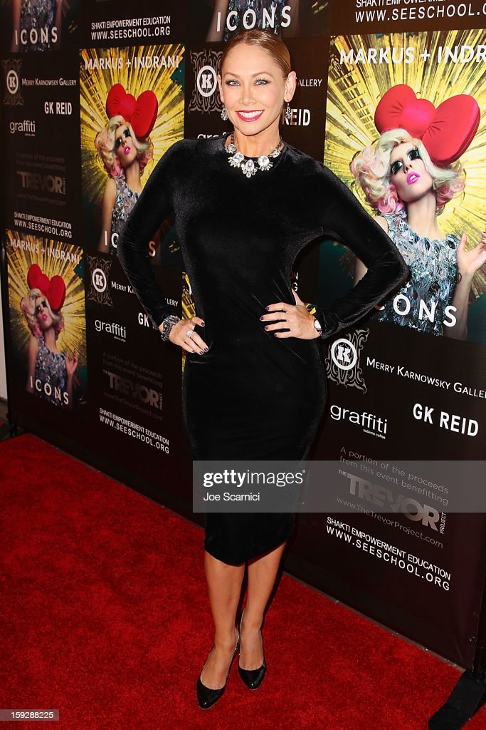 Kym Johnson arrives at Markus + Indrani Icons book launch party hosted by Carmen Electra benefiting The Trevor Project at Merry Karnowsky Gallery & Graffiti on January 10, 2013 in Los Angeles, California.