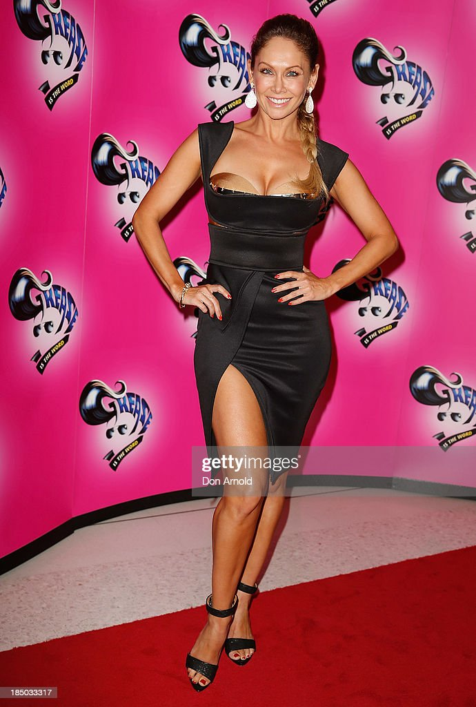 Kym Johnson arrives at the Sydney Premiere of GREASE at The Star on October 17, 2013 in Sydney, Australia.
