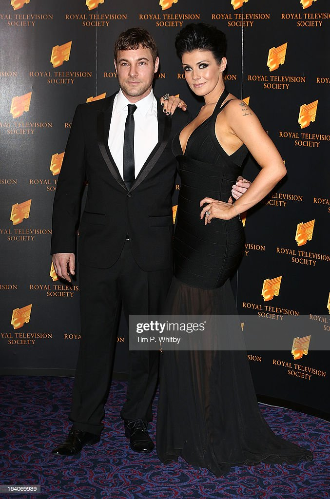 <a gi-track='captionPersonalityLinkClicked' href=/galleries/search?phrase=Kym+Marsh&family=editorial&specificpeople=4254440 ng-click='$event.stopPropagation()'>Kym Marsh</a> (R) and guest attend the RTS Programme Awards at Grosvenor House, on March 19, 2013 in London, England.