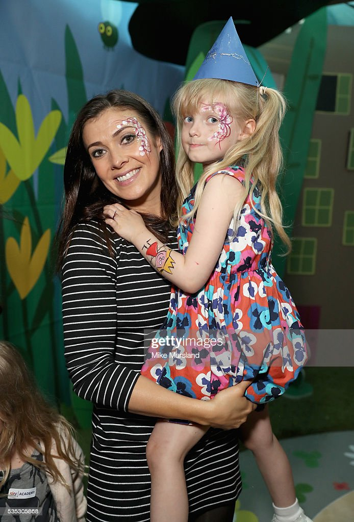 Kym Marsh and her daughter Polly attend the launch of the new Sky Kids Cafe, an imaginative play and themed cafe pop-up to celebrate the new Sky Kids app at The Vinyl Factory on May 29, 2016 in London, England.