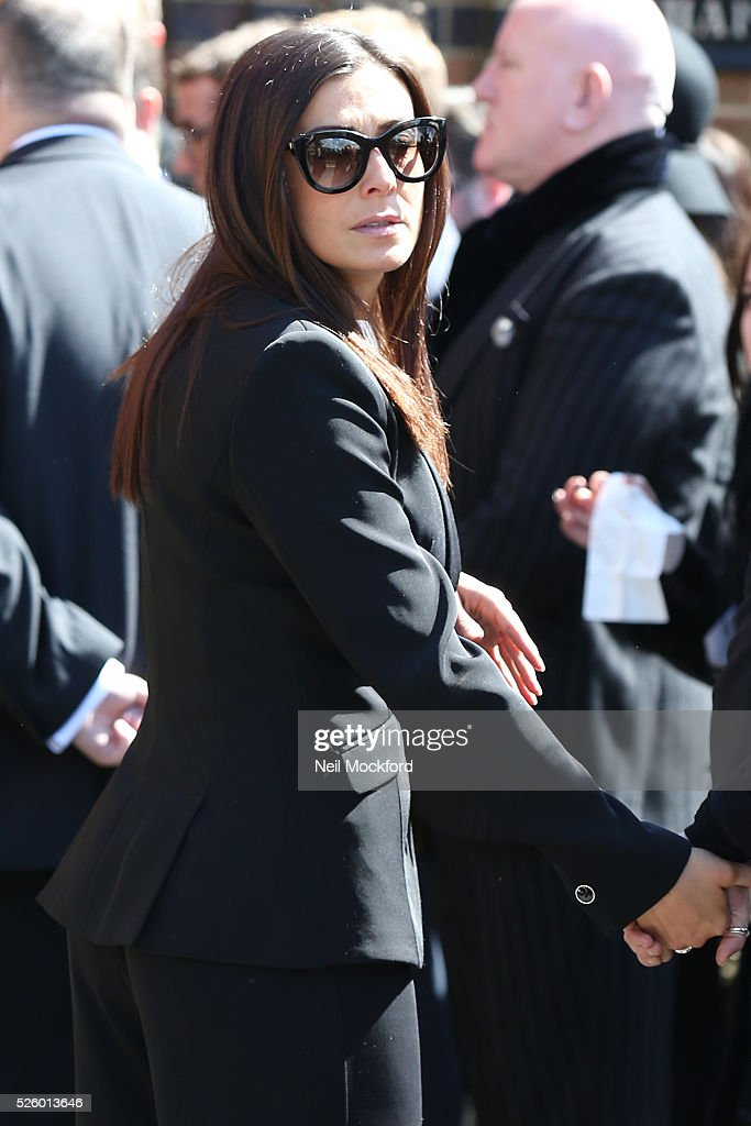 <a gi-track='captionPersonalityLinkClicked' href=/galleries/search?phrase=Kym+Marsh&family=editorial&specificpeople=4254440 ng-click='$event.stopPropagation()'>Kym Marsh</a> arriving at the funeral of David Guest at Golders Green Crematorium on April 29, 2016 in London, England.
